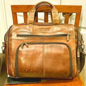 Distressed Kenneth Cole Reaction Leather Portfolio